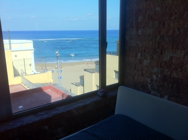 Vor uns der Atlantik! Blick aus unserere ersten Wohnung 2013.